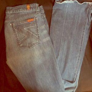 Flare leg 7 jeans